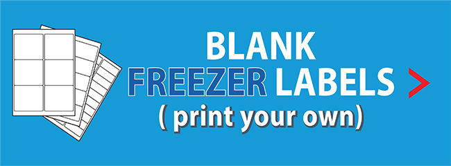 blank freezer labels