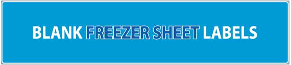 Blank Freezer Sheet