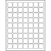 "1.0"" x 1.0"" (63up) DIY FREEZER-Grade/Durable Sheet Labels, LR-1010-063"